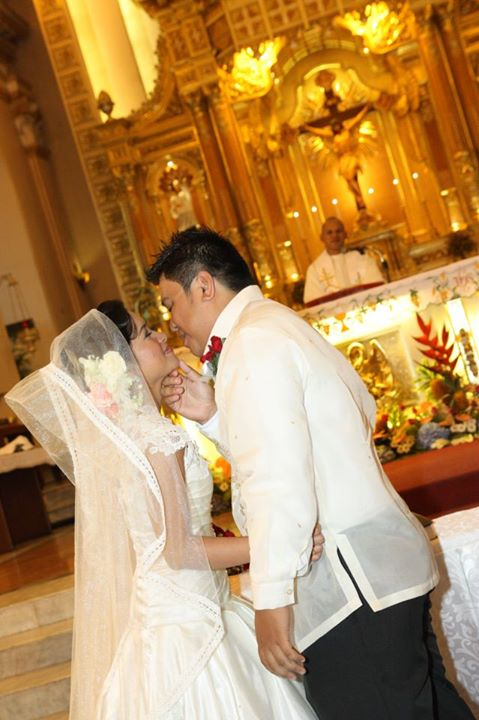 First Kiss as Mr. and Mrs. Iway