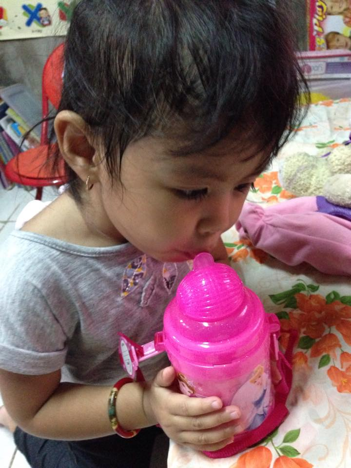 Louise drinking water