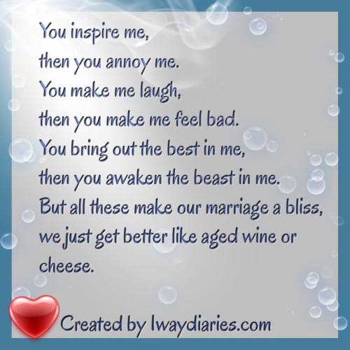 Wedding Anniversary Poem