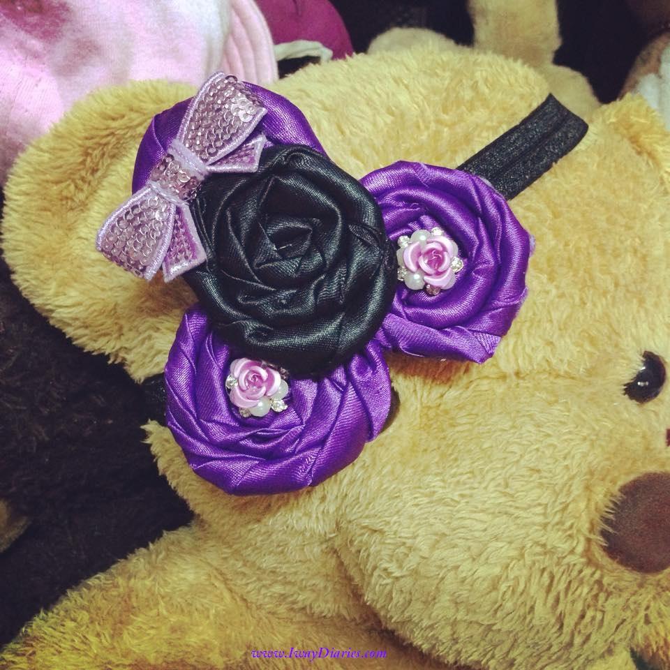 black and purple headband