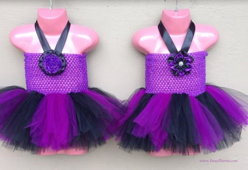 black and purple tutus