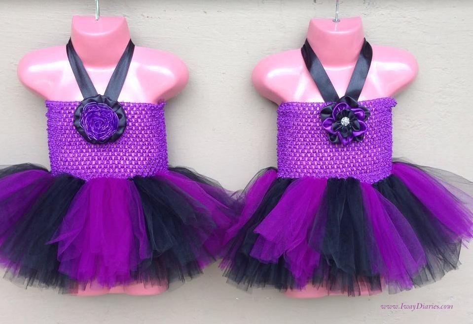 black and purple tutus