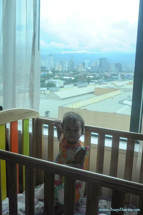 Louise at Radisson Blu - overlooking view