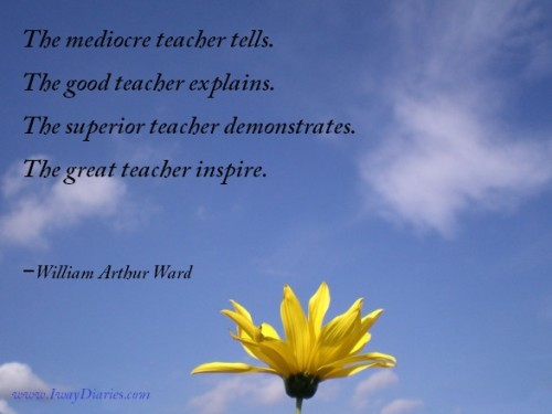 teacher as inspiration quotes