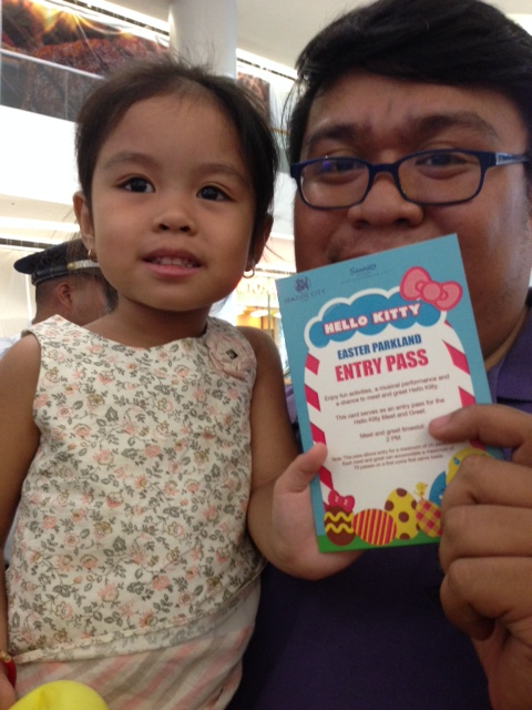 Happy for the Hello Kitty Pass