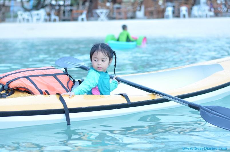 Kid enjoying the kayak