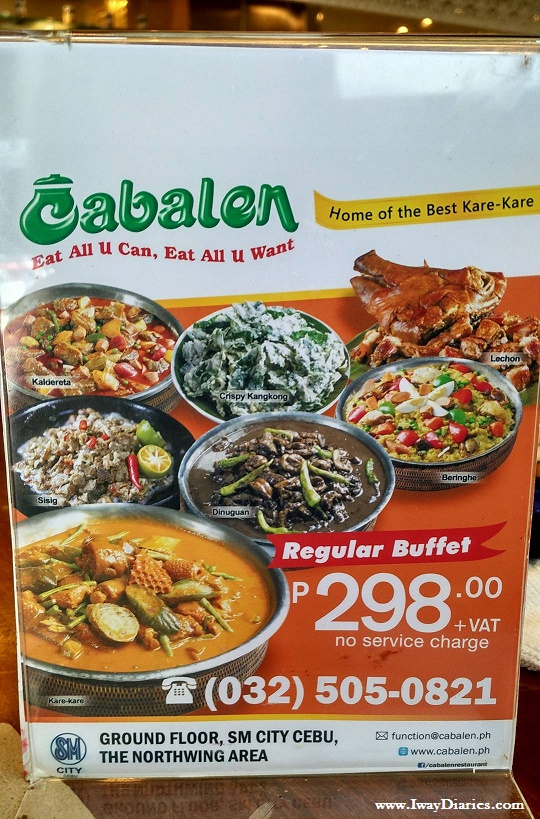 Cabalen Buffet Price