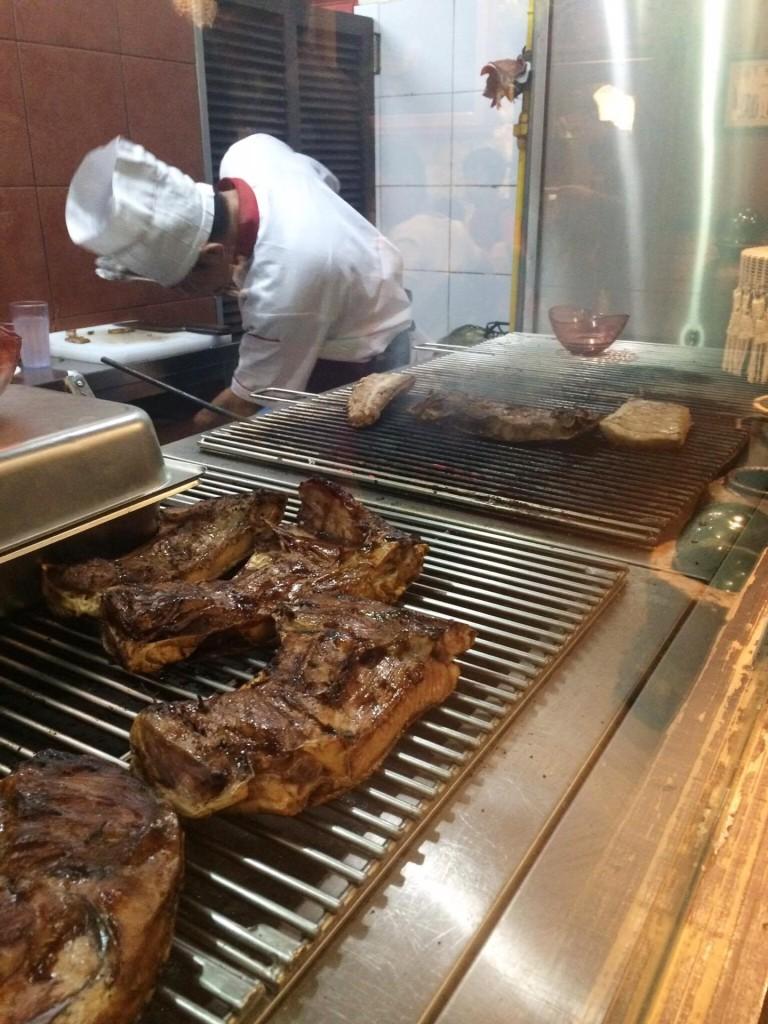 Paolito's grilling area