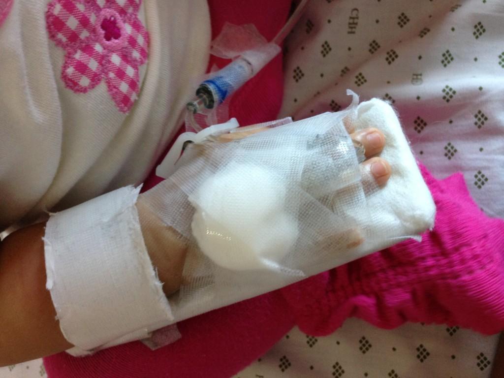 Baby hospitalized