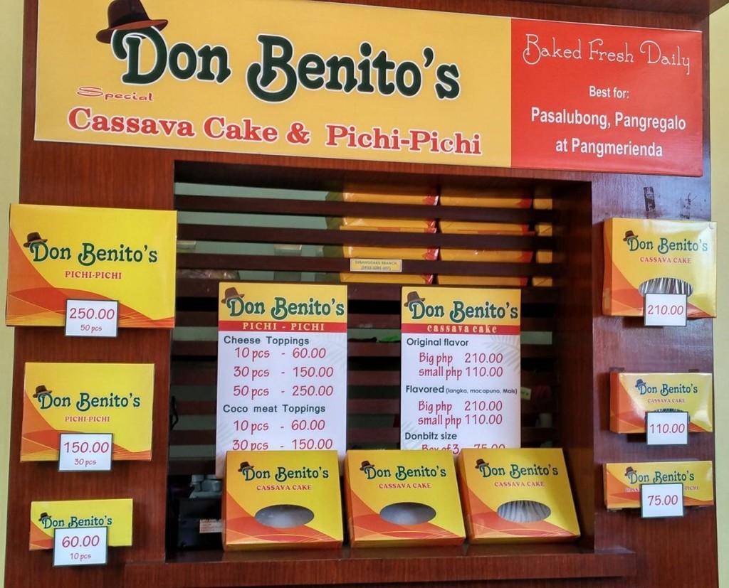 Don Benitos Pricelist in Cebu