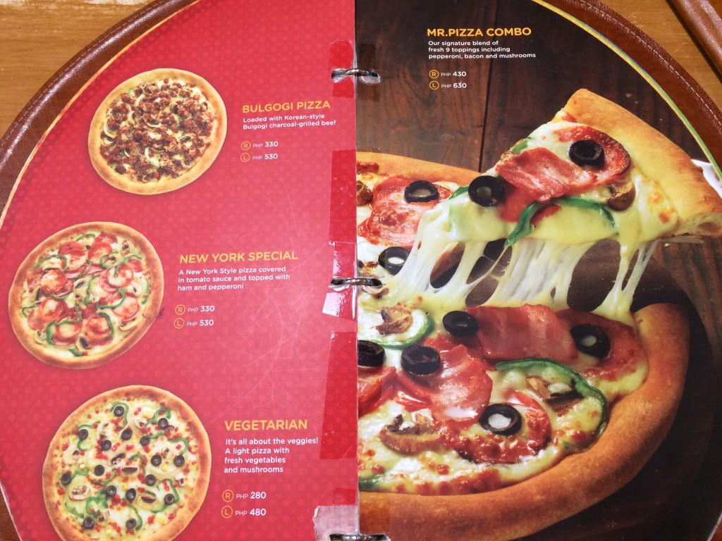 Mr. Pizza Classic Pizza Prices