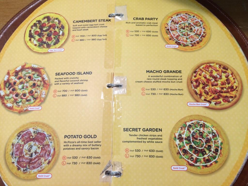 Mr. Pizza Premium Pizza Prices