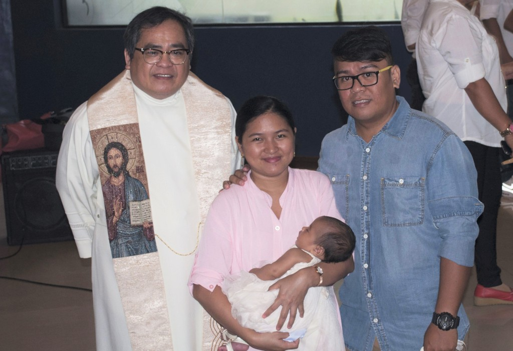 Photo with the priest