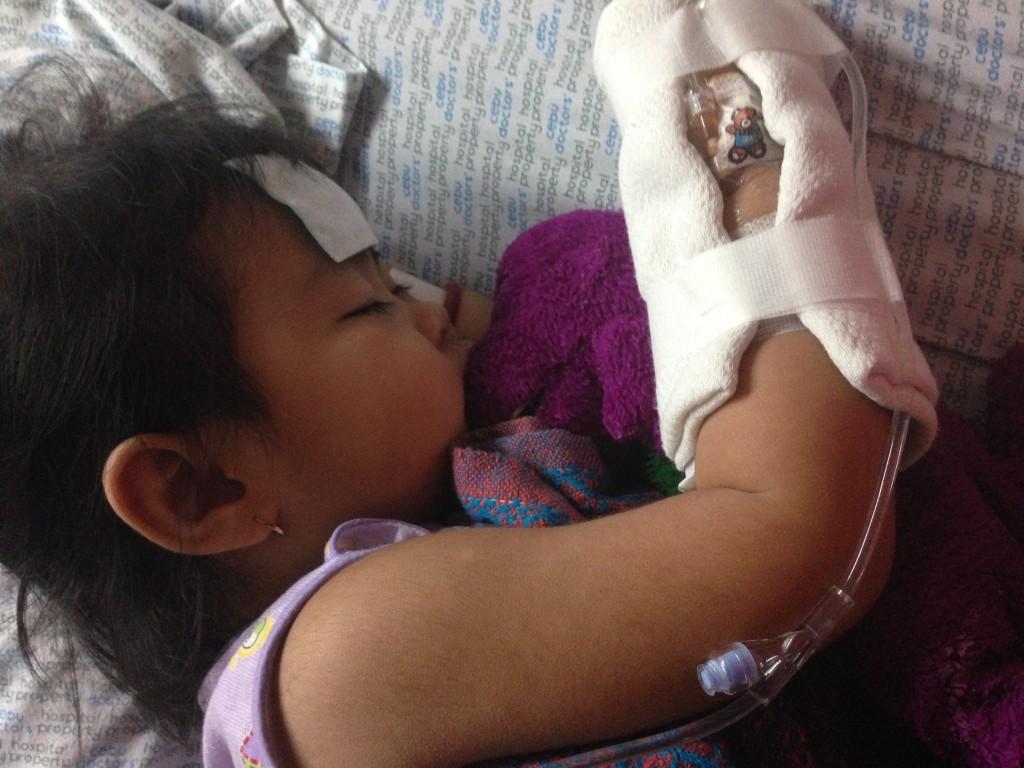 Toddler hospitalized
