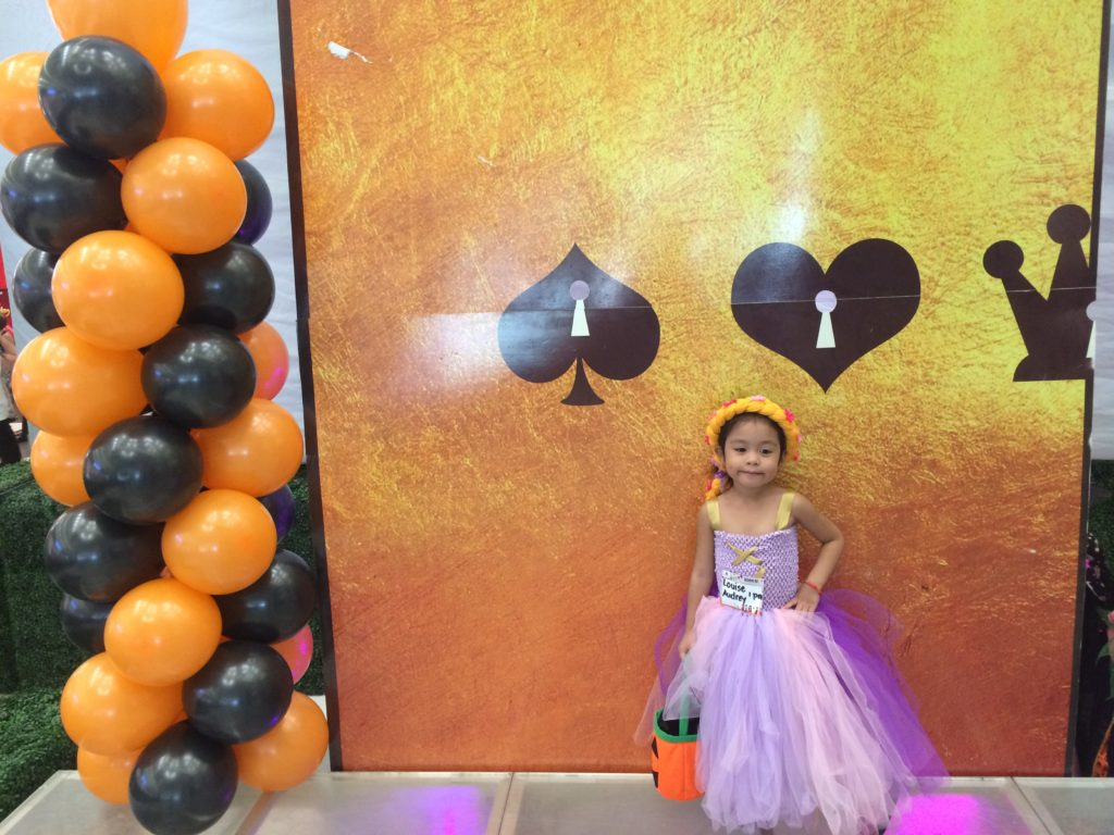 Louise during trick or treat in cebu