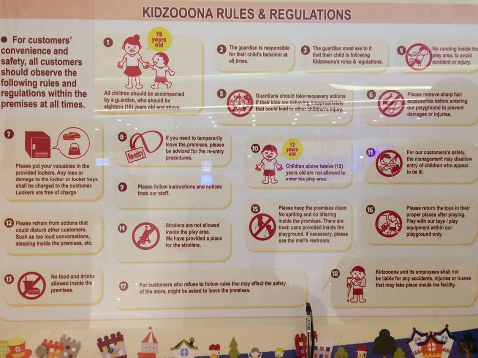 kidzoona-rules-and-regulation