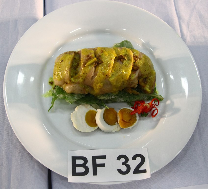 Best Filipino Umami Dish – Luzon entry: Bringhe Piyanera Chicken Roulade