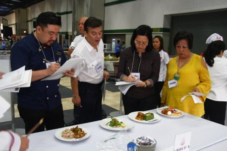 UCC Judges composed of Culinary and Nutrition experts scrutinize entries