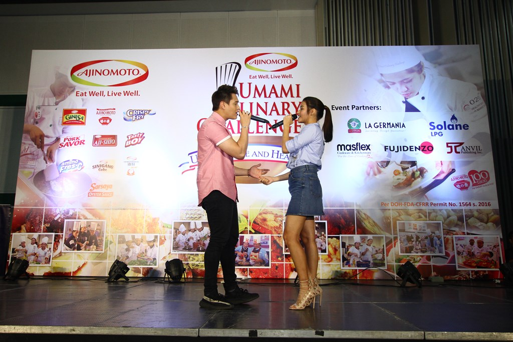 Liza Soberano and Enrique Gil graced the stage of the 2017 Ajinomoto Umami Culinary Challenge