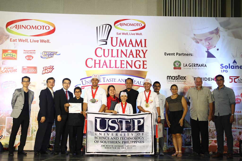 The National Cooking Showdown Champion for Best Filipino Umami Dish is University of Science and Technology of Southern Philippines