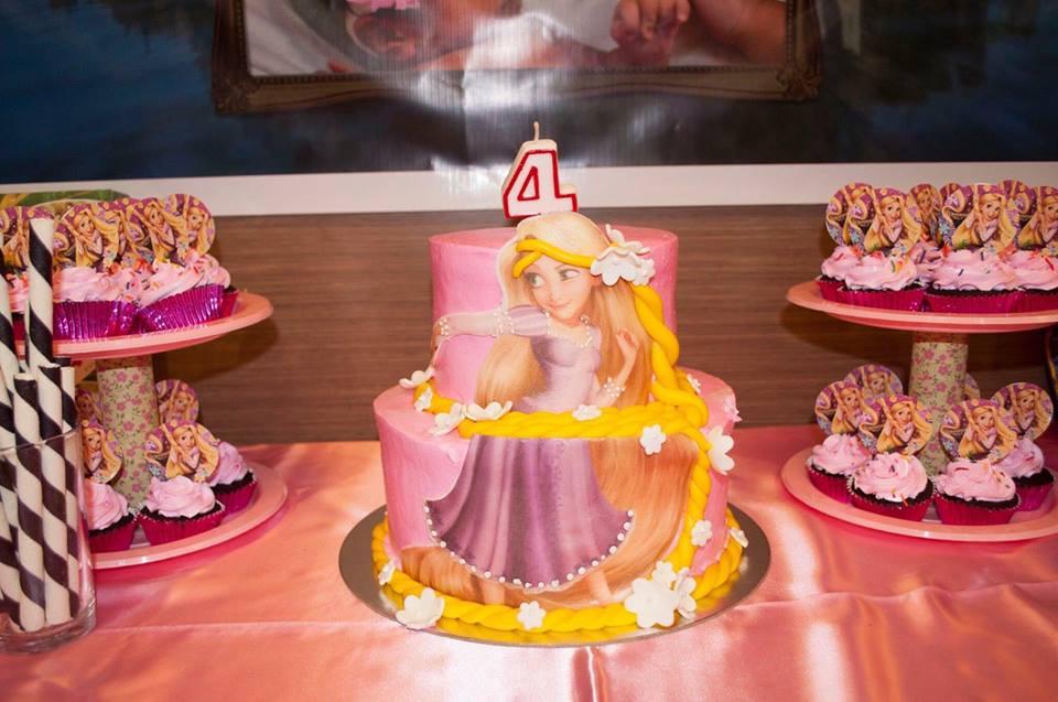 Rapunzel themed birthday cake