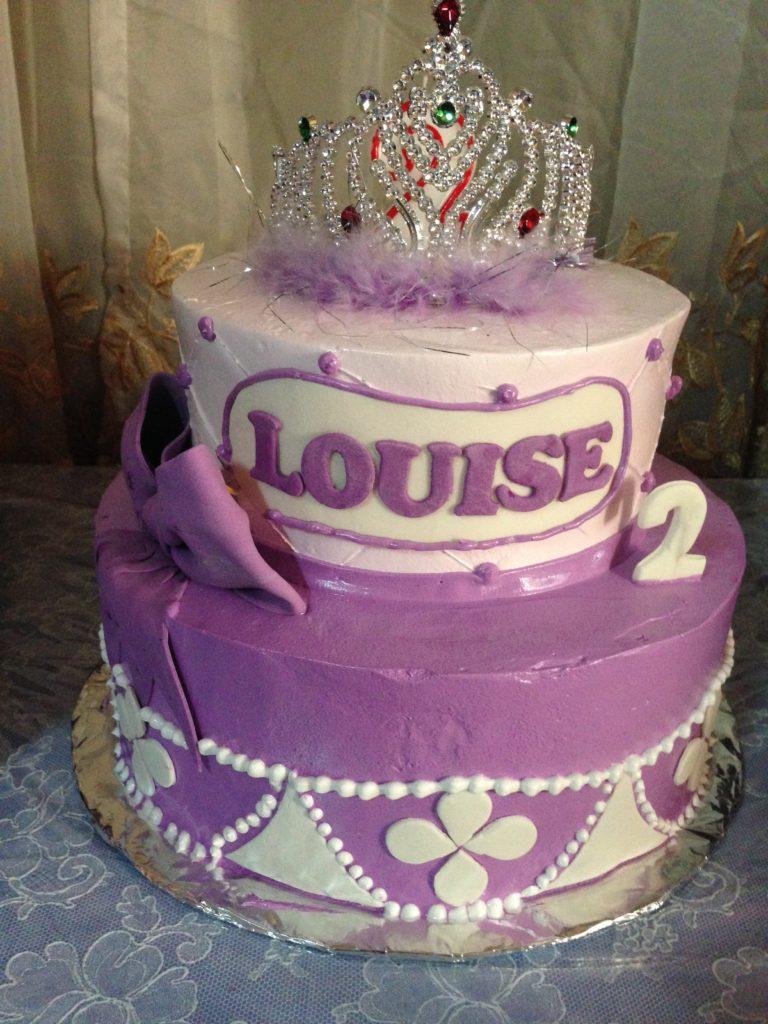 Sofia the first themed birthday cake