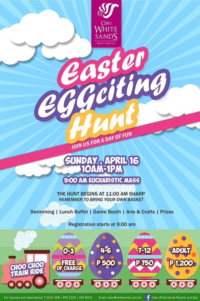 cebu white sands Easter Egg Hunt 2017 cebu