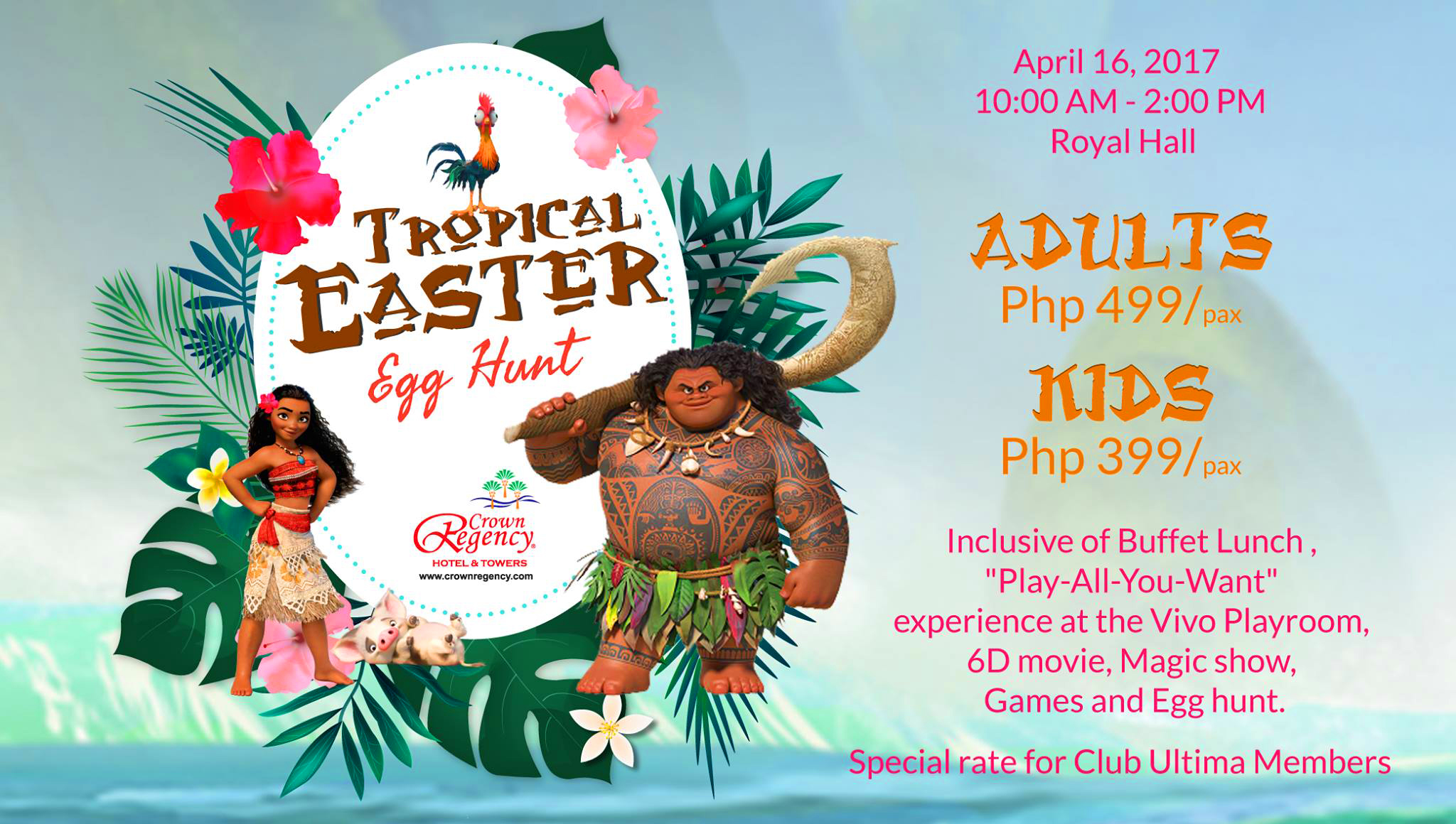 crown regency hotel and towers ester egg hunt 2017
