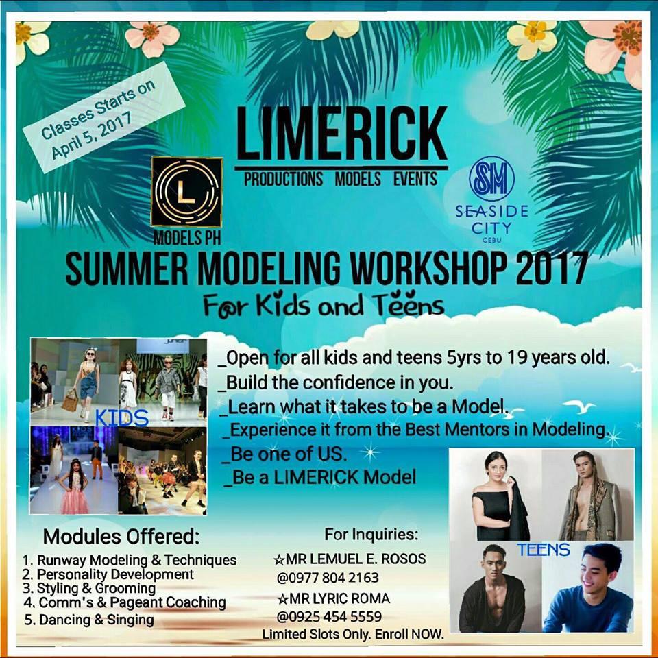 summer class 2017 in cebu - modelling