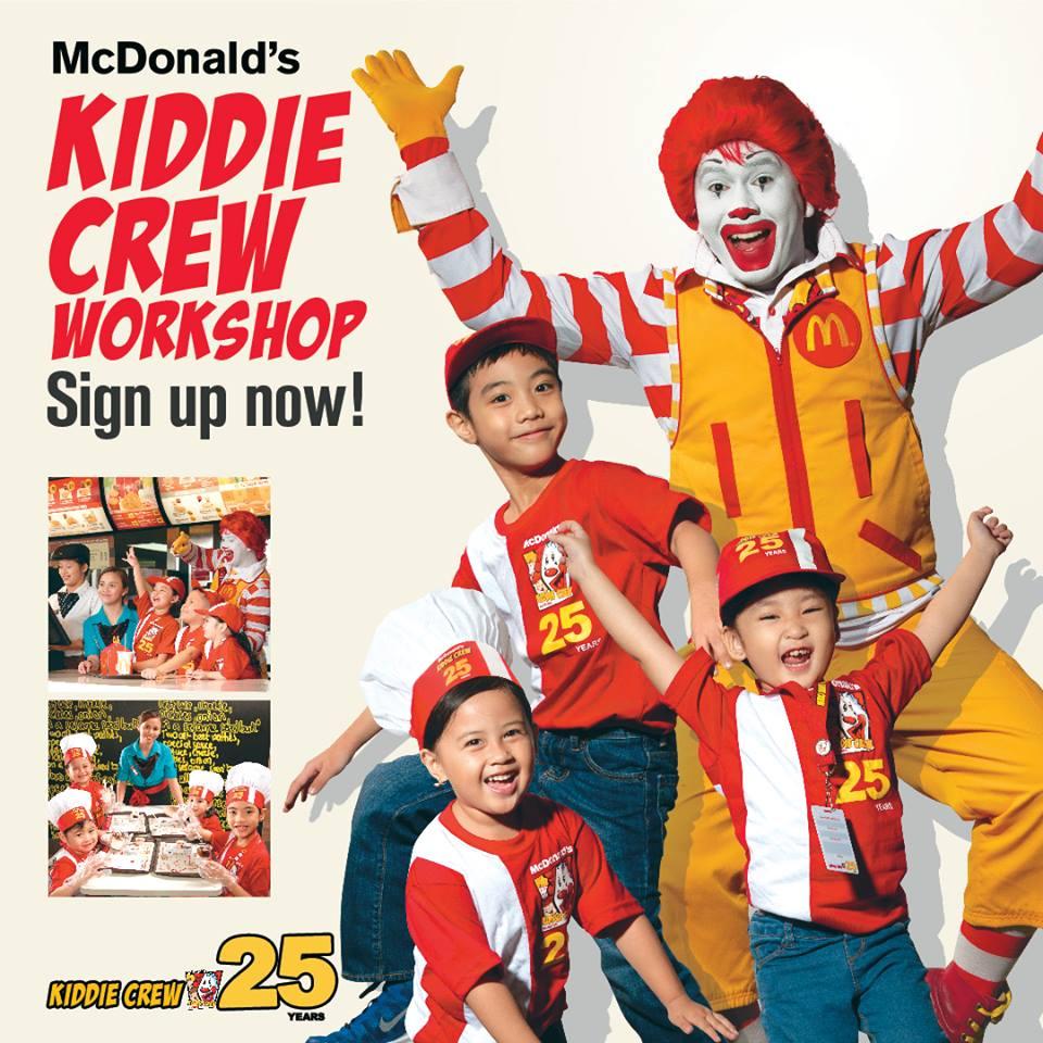 mcdonald's Kiddie Crew 2017