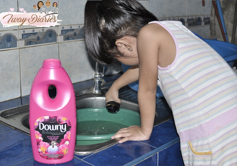 Louise using Downy