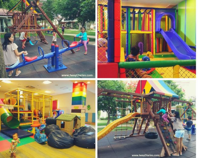 Playground and playroom in hotels