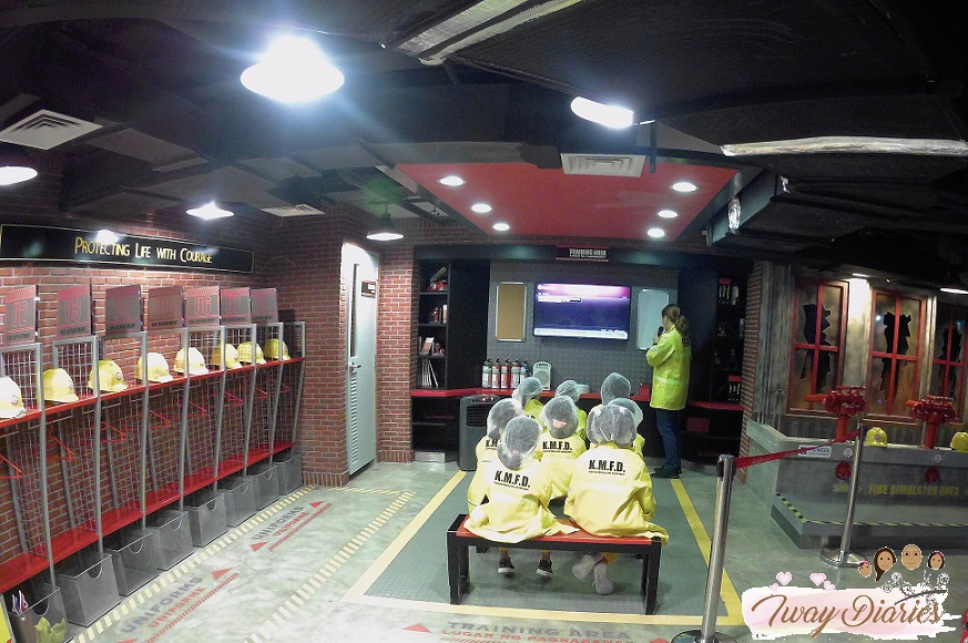 Kidzania - training as firefighter