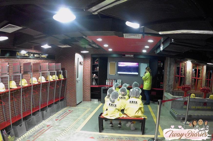 Kidzania - training as firefighter