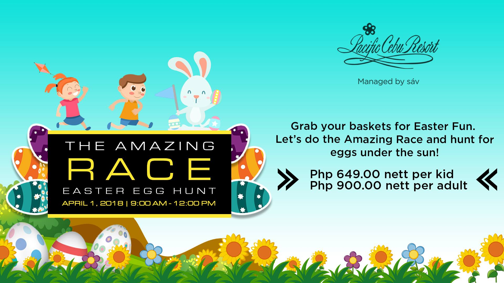 Cebu pacific resort - easter egg hunt 2018