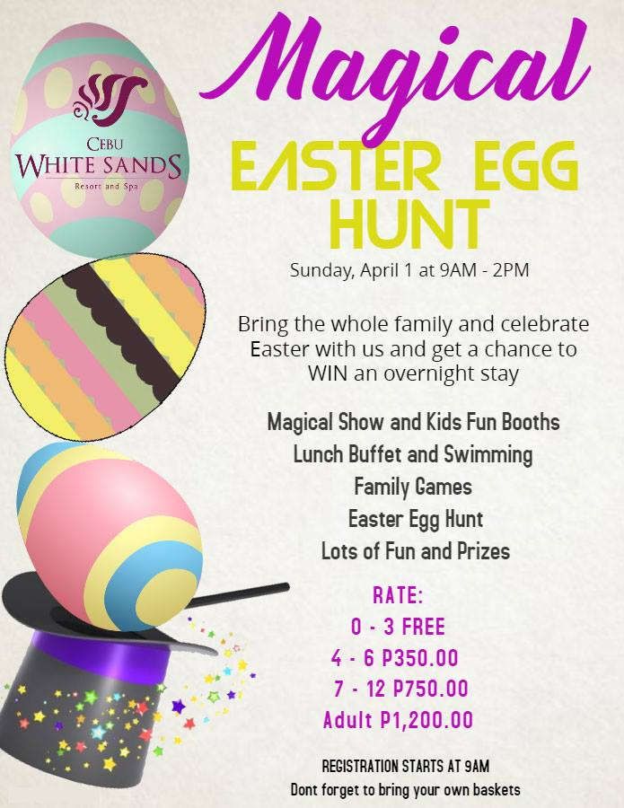 Cebu white sands easter egg hunt