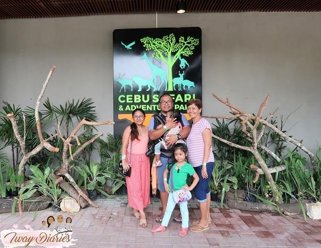 family at cebu safari and adventure park