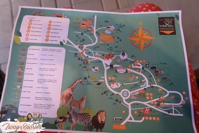 Cebu Safari Map