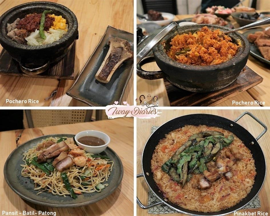 Balay Sa Busay Dishes
