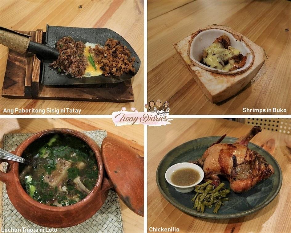 Balay Sa Busay Unique dishes