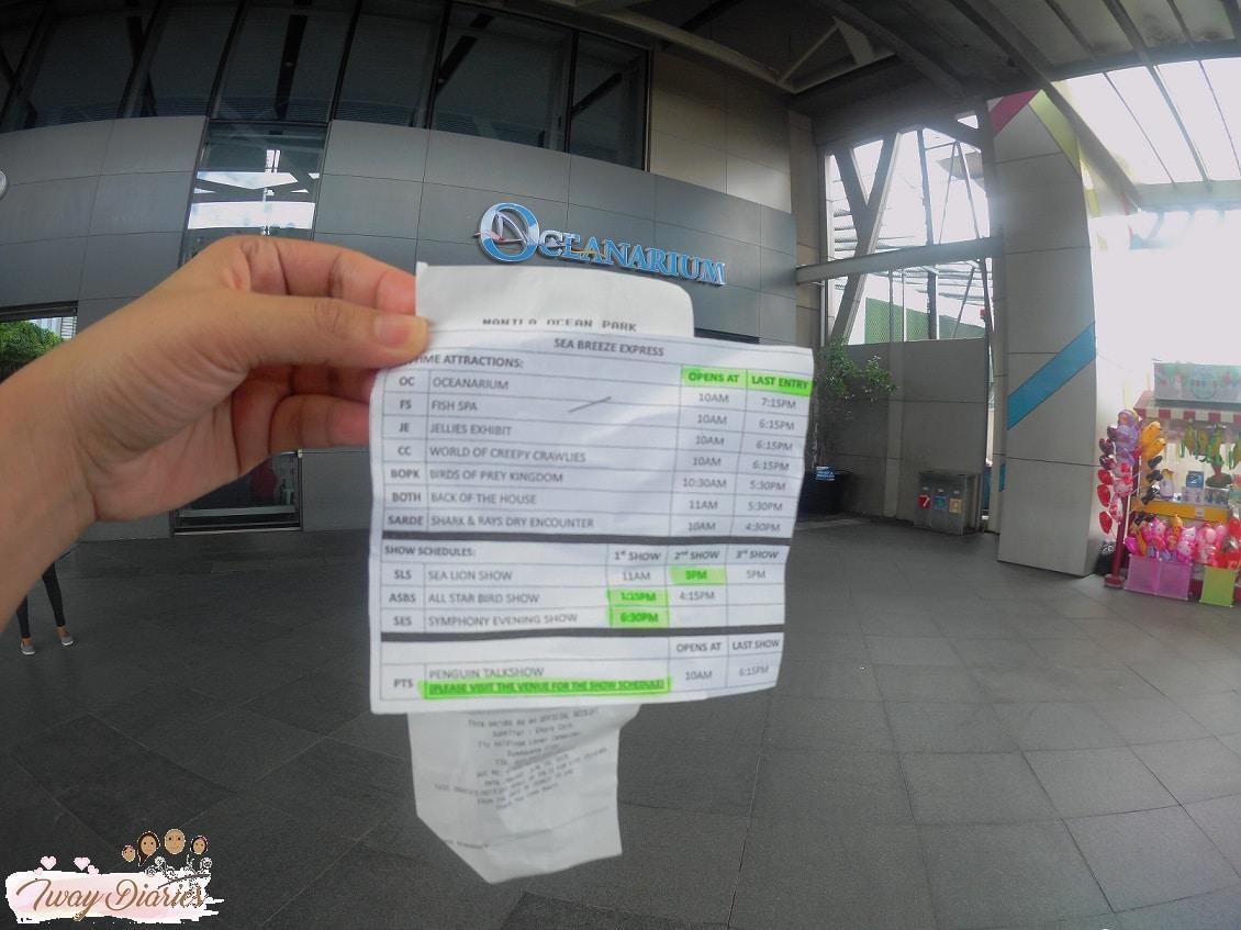 Manila Ocean Park Attractions Schedule