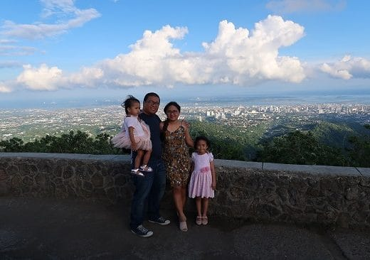 Tops Lookout Cebu with family