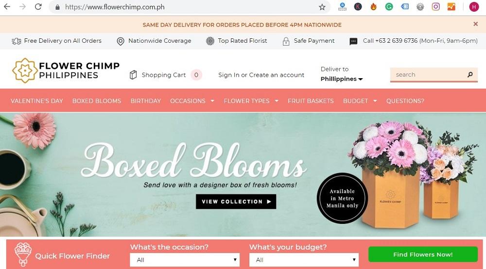Flowerchimp website