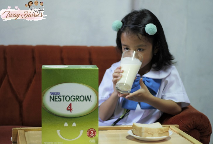 Blog 4 - Louise drinking Nestogrow