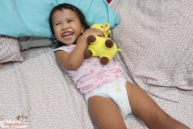 happy baby in pampers 2