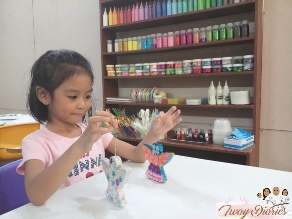 Louise doing crafts