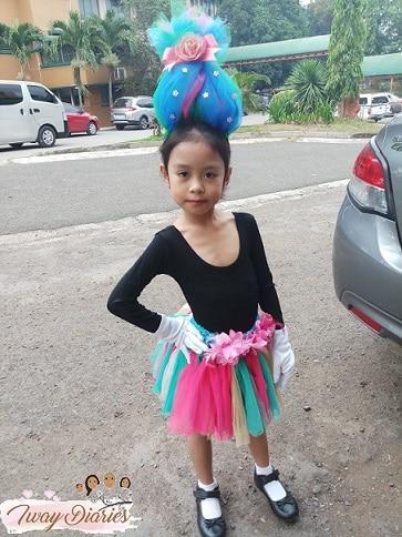 Kid wearing Trolls costume - trolls tutu
