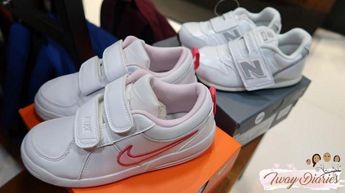 kidsports white shoes