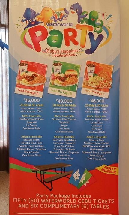 Waterworld Cebu Party Packages