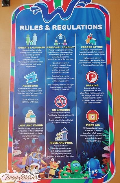 Waterworld Cebu Rules